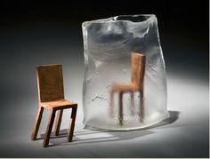 carole freve – what? – 2008 – 29x33x23cm – blown & kiln cast glass, copper  http://www.carolefreve.com/english/carole_freve_english.html