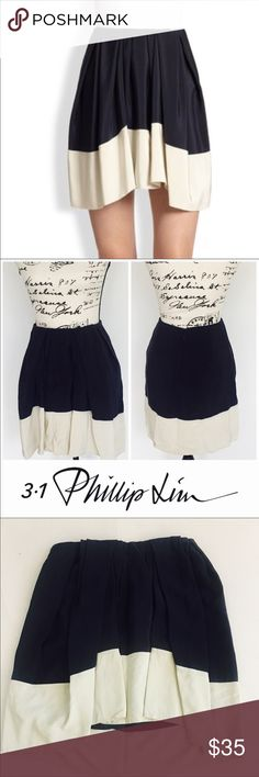 3.1 Phillip Lim colorblock silk skirt Blue and Ivory colorblock silk pleated high-low skirt 3.1 Phillip Lim Skirts Midi