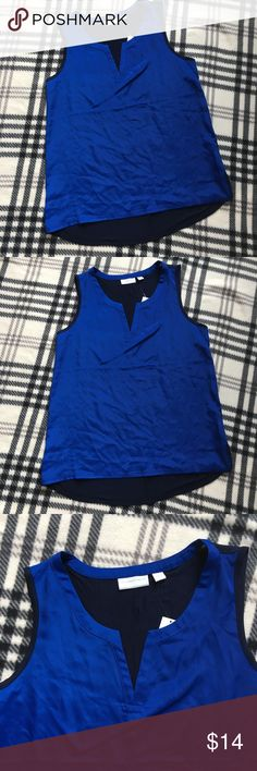New York company Sleeveless blue top size medium Excellent condition! No tears or stains from a pet and smoke free home New York & Company Tops Blouses