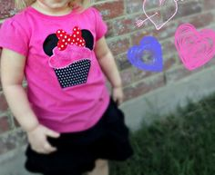 Free pattern: Mouse ears cupcake applique