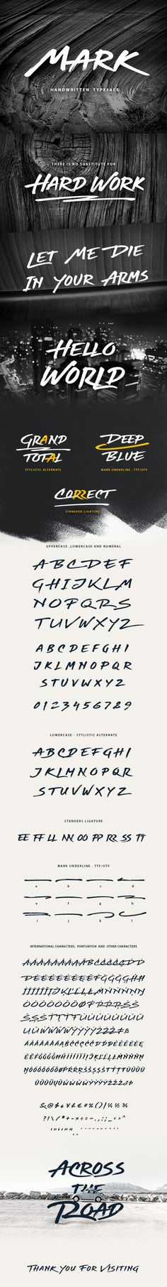 Mark Handwritten Graffiti Font