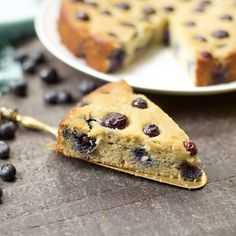 This Paleo Blueberry Lemon Cake makes a delicious addition to a weekend brunch, breakfast treat, or dessert! Moist and flavorful with a light lemon syrup. Paleo Dessert, Paleo Sweets, Sweets Recipes, Healthy Desserts, Lemon Syrup, Lemon Poppyseed Muffins, Snacks, Coconut Flour, Almond Flour