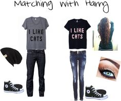 """Matching with Harry"" by myirishmanniall ❤ liked on Polyvore"