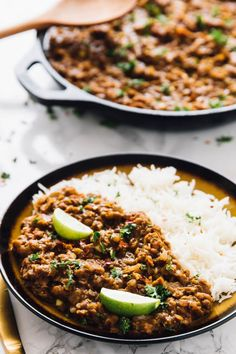 This Red Lentil Curry is SUCH a delicious curry recipe made in under an hour! It's made easily in one pot, is vegan and freezes so well!