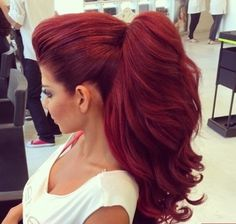 Red, long and thick hair ❤️