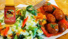 Surinaams eten – Andijviestamppot Dési Masala Gehaktballen (andijviestamppot met gehaktballen op romige masala saus)