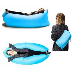 Whether you're doing camping, lounging around the beach, or simply hanging out at music festivals, you'll need something to sit and lie on during these times. The inflatable sleeping bag can meet your