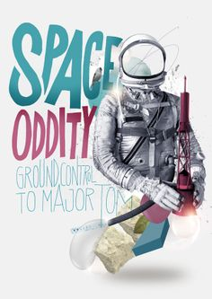 Space Oddity poster Nazario Graziano