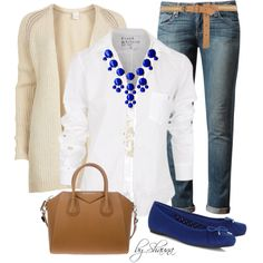 """""""Blue bubble necklace & shoes"""""""