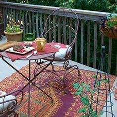 Oriental Turkish Rust Outdoor Mat by Mad Mats