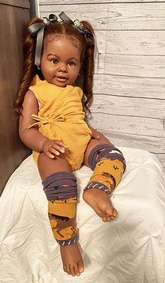 Reborn Babies Black, Reborn Toddler Girl, Black Baby Dolls, Cute Black Babies, African American Baby Dolls, African American Babies, Diy Reborn Dolls, Pretty Baby, Cute Kids