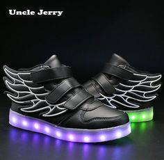 Mother & Kids Unclejerry Fashion Camouflage Usb Recharge Glowing Sneakers Girls Shoes Running Shoes Lightweight Sneakers Led Light Boys Shoes Elegant And Sturdy Package