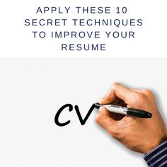 Apply These 10 Secret Techniques to Create The Perfect Resume Resume Writing Tips, Perfect Resume, Resume Cv, You Tried, Job Search, New Job, Improve Yourself, The Secret, How To Apply