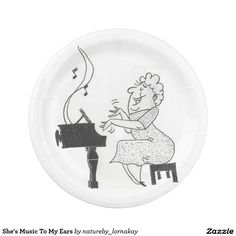 She's Music To My Ears Paper Plate