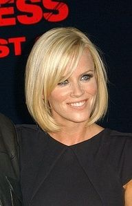 Jenny McCarthy in a Medium Length Bob Hair Style if only I had straight hair!
