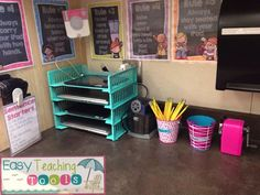 Are you lucky enough to have technology in your classroom? If you are, you know how tricky it can be to keep it all organized, right? I needed a place to store our chrome books and iPads on a budget