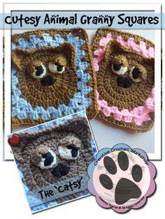 Creative Crochet Workshop: The Catsy Granny Square, free crochet pattern