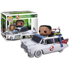 The primary driver of the Ecto-1 and the Ecto-1 itself from Ghostbusters are now Pop! Vinyl! The Ghostbusters Winston Zeddemore and Ecto-1 Pop! Vinyl Vehicle are packaged as a set, with the Ghostbusters Winston Zeddemore Pop! Vinyl Figure being able to fit inside the Ecto-1 at 3 3/4-Inch tall. A cool recreation of driver and vehicle, this set makes a great collectible for Ghostbusters and Ernie Hudson fans. #funko #funkopop #popvinyl #toy #collectible #poprides