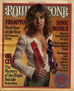 Peter Frampton on Rolling Stone cover. I had this picture inside my locker! Pop Rock, Rock And Roll, Dr Hook, Tapas, Rolling Stone Magazine Cover, Stone Uk, Peter Frampton, Musica Pop, Popular Magazine