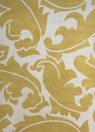 Overleaf Yellow rug - The Rug Company Stencil Fabric, Fabric Rug, Stencils, Yellow Rug, Mellow Yellow, Yellow Print, Fabric Patterns, Print Patterns, Black Bookcase