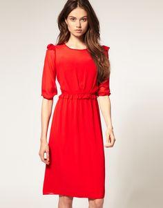 red dress, love.