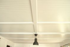 Ceiling treatment for basement - Bead Board Sheets and trim, easy!
