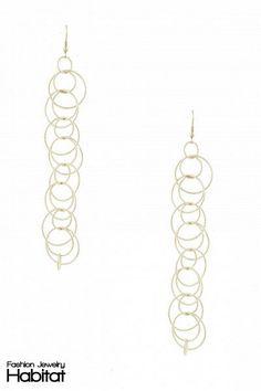 Inner Linked Drop Earrings - $30.00 at FashionJewelryHabitat.com - #FashionJewelryHabitat #FashionHabitat