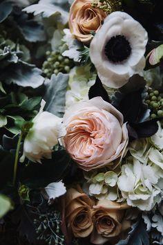 garden roses, anemone....