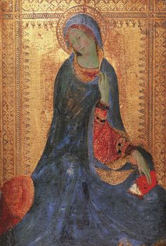 Simone Martini (1285 -1344) The Virgin of the Annunciation, 1333. Hermitage Museum, St. Petersburg, Russia.