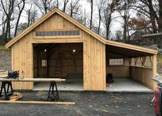 One Bay Garage Kit Single Car Garage Kit Jamaica Cottage Shop Pole Barn Garage, Building A Pole Barn, Building A Garage, Build A Building, Building A Workshop, Pole Barn Kits, Build Your Own Garage, Building Ideas, Backyard Storage Sheds