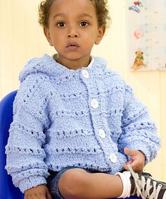 Craft Passions: Snow Baby - Cardigan# Free # knitting pattern link...