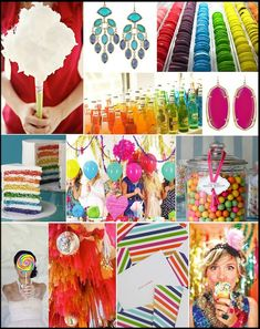 the colors are all fun, monochromatic would be cute, too, for a bday party