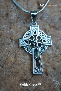 Celtic Cross in Sterling Silver. The artwork has been perforated or carved through to allow for enough light to flow, emphasizing the magnificent pattern. Tiny and delicate, it's ideal for young adolescents or ladies who like petite jewelry. Elegant and authentic, this piece of jewelry is ageless. Celtic Meaning, Celtic Symbols And Meanings, Irish Symbols, Celtic Knot Jewelry, Jewelry Knots, Irish Jewelry, Silver Jewelry, Unique Gifts For Women, Tattoos With Meaning
