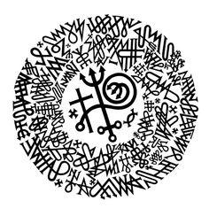 "Barry William Hale ""Pomba-gira Maria Mulambo - Grande Circulo de Pontos Riscado  [Whirling Dove Maria Mulambo - Great Circle of Scratched Points]"" 2015, Vinyl cut.  Courtesy Romano Gallery."