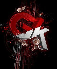 Gk 3D Typography Design