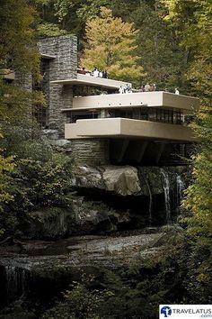 Fallingwater by Frank Lloyd Wright, Pennsylvania, USA