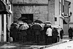 Fe... de paraguas   Roberto A. R. Painting, Umbrellas Parasols, Umbrellas, Rain, Faith, Pictures, Painting Art, Paintings, Painted Canvas