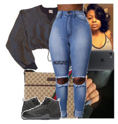 A fashion look from January 2017 featuring nike shirts, light blue jeans and gucci handbags. Browse and shop related looks. Gucci Outfits, Dope Outfits, Swag Outfits, Simple Outfits, Winter Outfits, Summer Outfits, Casual Outfits, Fashion Outfits, Fashion Trends
