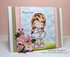 C.c.designs Lucy with cross Easter card by V's sweet ideas