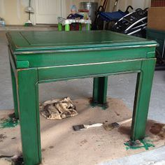 #DIY #rusticgreen #refinishedfurniture