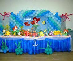 Resultado de imagen para la sirenita decoracion para cumpleaños