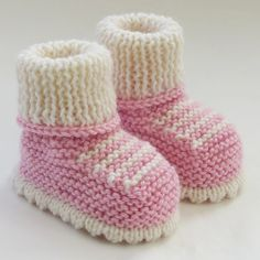 Hand Knitted Baby Booties-Shoes -for sale on Etsy - no pattern - just idea