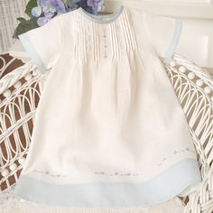 Evan Day Gown This is a beautifully classic day gown. Made of crisp white linen… Baptism Gown, Christening Gowns, Sewing For Kids, Baby Sewing, Baby Boy Outfits, Kids Outfits, Angel Gowns, Vintage Baby Clothes, Baby Gown