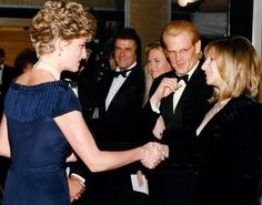 "18 February 1992. Meeting Barbra Streisand and Nick Nolte. ""Prince Of Tides"" premiere."