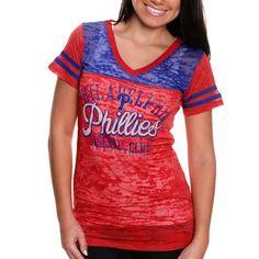 Touch by Alyssa Milano Philadelphia Phillies Ladies Coop Premium T-Shirt - Red