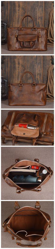 ROCKCOW Leather Unisex Real Leather Messenger Bag for Laptop Briefcase Satchel Bag 9014