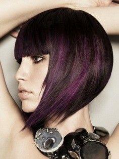 mechas de colores en cabello oscuro - Buscar con Google