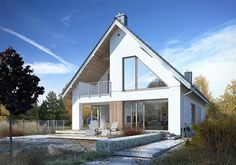 Projekt domu Dostępny 6 142,7 m2 - koszt budowy - EXTRADOM Modern Farmhouse Exterior, Facade House, Home Fashion, Beach House, Home Improvement, House Plans, Sweet Home, New Homes, Mansions