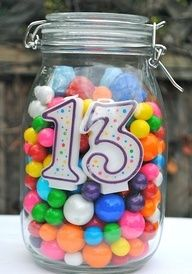 Birthday party centerpiece. You can even tie balloons to the top of it!