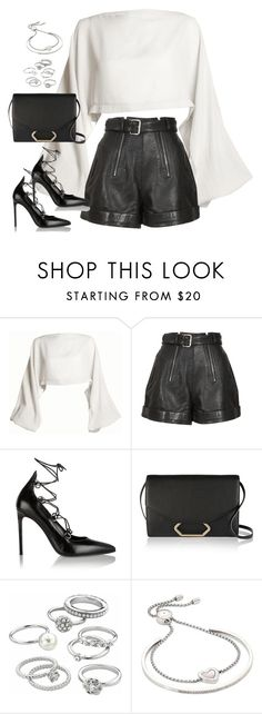 """""""Sem título #4896"""" by fashionnfacts ❤ liked on Polyvore featuring DAMIR DOMA, Carven, Yves Saint Laurent, Victoria Beckham, Candie's and Michael Kors"""
